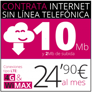 internet sin cables 10 Mb